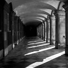Light and Shadow, Hampton Court Cloisters, England by Beverley Goodwin