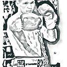 Tony 'Bomber' Bellew Pencil & Ink Sketch by chrisjh2210