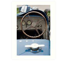 Bugatti Dashboard Art Print