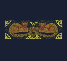 Celtic Cats 16 Tee by ingridthecrafty