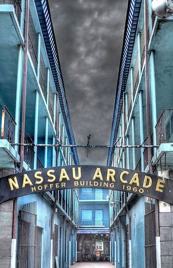 Nassau Arcade on Bay Street in Nassau, The Bahamas by Jeremy Lavender Photography