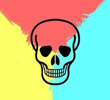 Psychedelic Skull by tspshirt
