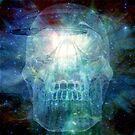 The 13th Cosmic Crystal Scull  by Rbartbydesign
