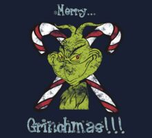 Merry Grinchmas (Grunge ver.) Kids Clothes