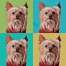 Yorkie Pop Art times 4 by susan stone