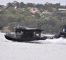 Catalina Water Take-off, Lake Macquarie, Australia 2012 by muz2142
