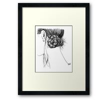 she could hear her own heart beating Framed Print