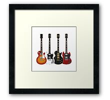 Four Electric Guitars Framed Print