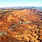 aerial of Red Rock Plateau, Utah (3) by Margaret  Hyde