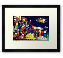 Love in Rubiksworld Framed Print