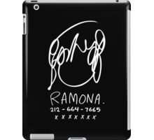 Ramona Flowers (on Black) iPad Case/Skin
