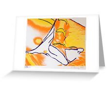 feet screen print Greeting Card