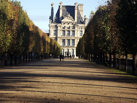 Autumn in the Louvre gardens, Paris by graceloves
