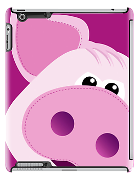 Big Pink Piggy - iPad Cover by BlueShift