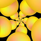 Yellow Sphere Spiral  by Objowl