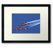 The Red Arrows ~ The Royal Air Force Framed Print