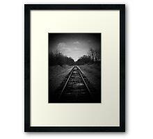 Scene of a old railroad Framed Print