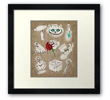 Wear To Wonderland Framed Print