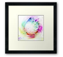 wave of circle Framed Print