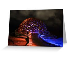 The Dome - Light Painting - Sculptures By The Sea Greeting Card