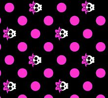 polkadots and cute skulls ipad case by kennypepermans