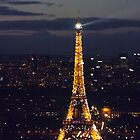 Eiffel tower lights, Paris, France by graceloves