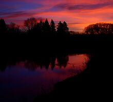 Sunrise Over Skunk Creek by Scott Hendricks