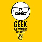 geek at work ipad case by kennypepermans