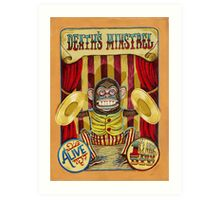 Death's Minstrel: Jolly Chimp Sideshow Banner Art Print