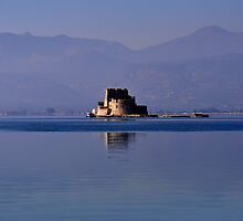Greek Fortress in the Aegean Sea by Jennifer Lyn King