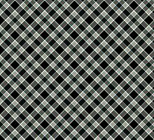 Artistic plaid pattern in black and white by nadil
