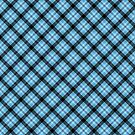 Cute Plaid pattern in blue by nadil