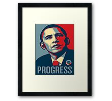Obama Progress Framed Print
