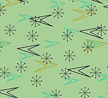 Atomic Arrows, Vintage Fifties Look iPad Case by Cherie Balowski