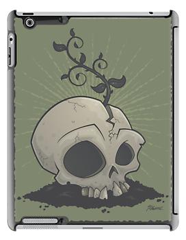 Skull Garden iPhone Case by fizzgig