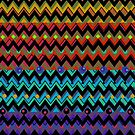 Funky Chevrons, Colorful iPad Case by Cherie Balowski
