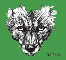The Fox - Ink Drawing Kids Clothes