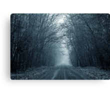 Gloomy Road to Nowhere Canvas Print