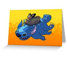 Flying Friends #2: Lilo the Last Airbender Greeting Card