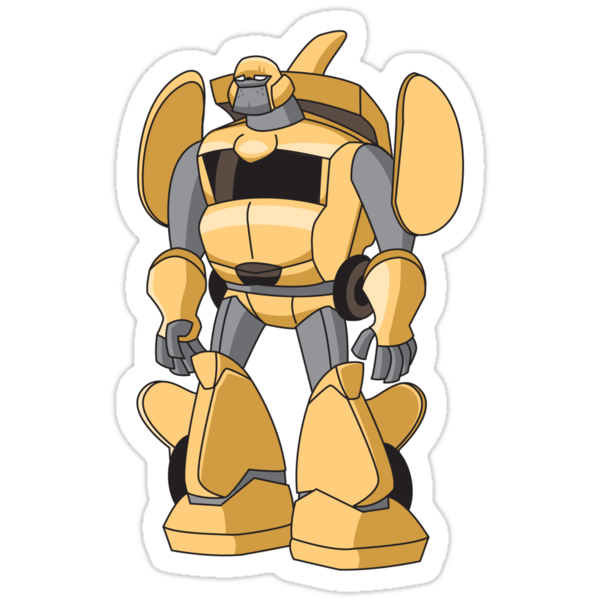 DUMBR The Ottobot Robot Sticker by SevenHundred