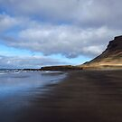 Black Sand Beach by PorcelainPoet