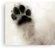 Dog Art - I Paw You Metal Print