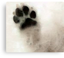 Dog Art - I Paw You Canvas Print