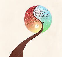 Yin-Yang Tree: Autumn-Spring by BelleFlores
