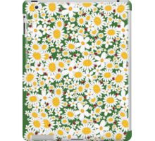 Whimsical Summer White Daisies & Red Ladybugs iPad Case/Skin