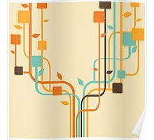 graphic tree Poster