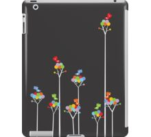 Tweeting Birds (White on Dark) iPad Case/Skin