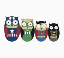 Superhero owls by nickcimm
