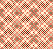 red plaid pattern art by nadil