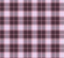 Artistic plaid pattern in dark purple by nadil